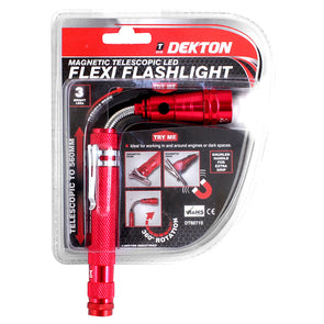 Dekton Magnetic Telescopic LED Flexi Flashlight