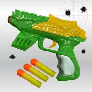 Toy Gun With 3 Foam Pellets