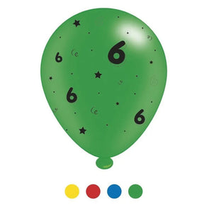 """6"" Design Latex Birthday Balloons Assorted Colours 8 Pack - Case of 6"