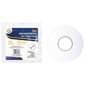 DID Foam Weather Strip 5m 2 Pack