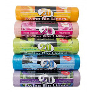 E-lite Style Scented Pedal Swing Bin Liners 20 Roll Pack - Case of 5