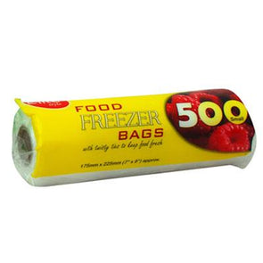 E-lite Style Food Freezer Bags 500 Roll Pack Regular