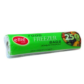 E-lite Style Food Freezer Bags 250 Roll Pack Medium