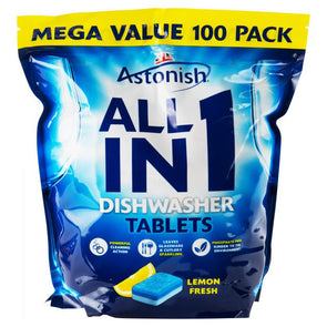 Astonish All in 1 Dishwasher Tablets Lemon 100 Mega Value Pack