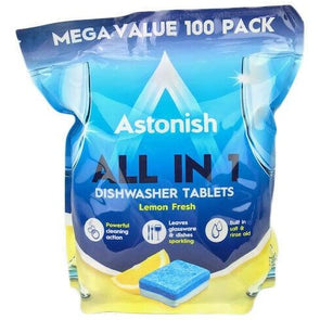 Astonish All in 1 Dishwasher Tablets Lemon Mega Value 100 Pack