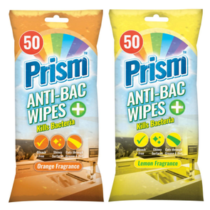 Prism Scented Antibacterial Wipes 50 Pack