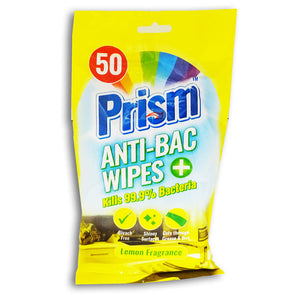 Prism Anti-Bac Wipes 50 Pack