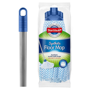 StarWash Synthetic Floor Mop & Handle Set