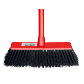 Complete Soft Red Broom with Handle