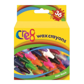 Cre8 Wax Crayons 36 Pack - Case of 12