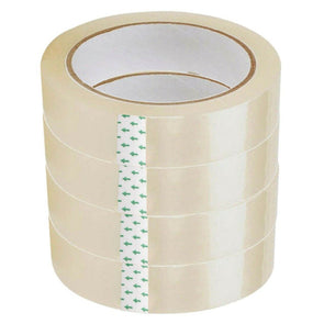 Clear Adhesive Tape 24mm x 20m 4 Pack - Case of 12