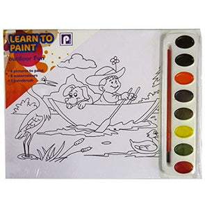 "Pennine Learn to Paint Set A4 ""Outdoor Fun"" Design"