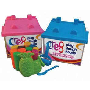 Kid's Moulding Play Dough House Blue & Pink Set of 2 - Case of 12