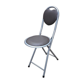 Brown Steel Folding Chair