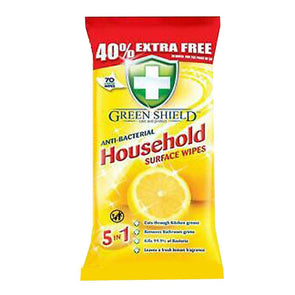 Green Shield Anti-Bacterial Household Surface Wipes 70 Pack