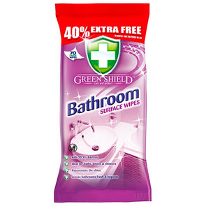 Green Shield Bathroom Surface Wipes 70 Pack