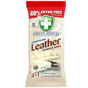 Green Shield Conditioning Leather Surface Wipes 70 Pack