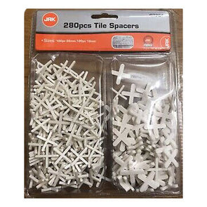 White Tile Floor Spacers Cross Tiling 280 piece 26mm 18mm