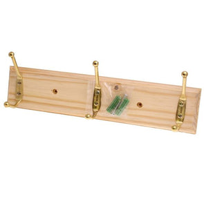 Ashley 3 Hook Coat Hanger Rack in Pine