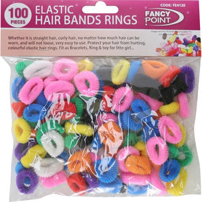 Elastic Hair Bands Rings 100 Pieces
