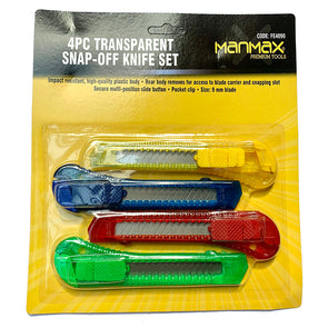 Manmax Snap Off Knife Set 4 Pack