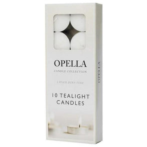 Opella Tealight Candles 8 Hour 10 Pack