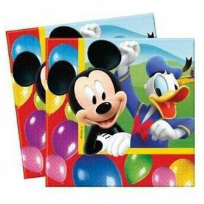Mickey Mouse Party Time Napkins 20 Pack