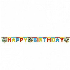 Mickey Mouse Happy Birthday Letter Banner 2m Long
