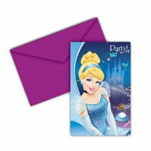 Disney Princess Cinderella Party Invitations 6 Pack
