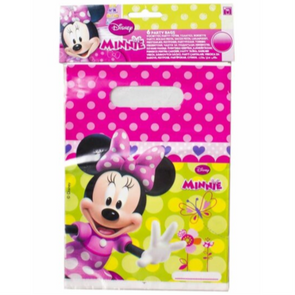 Disney Minnie Mouse Party Loot Bags 6 Pack