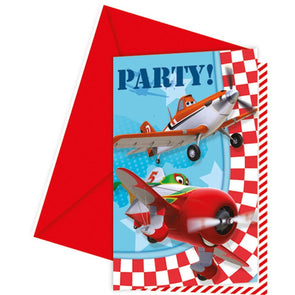 Disney Planes Party Invitations 6 Pack