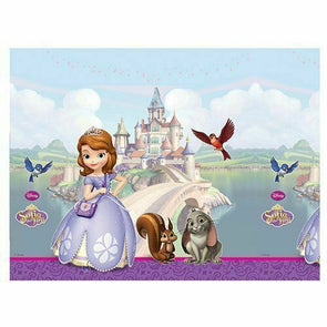 Disney Sofia The First Party Table Cover with Castle Scene (180cm x 120cm)