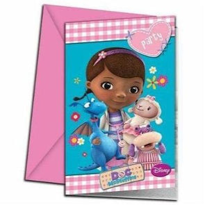 Disney Doc McStuffins Party Invitations 6 Pack