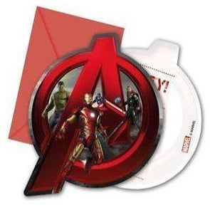Disney Avengers Party Invitations 6 Pack