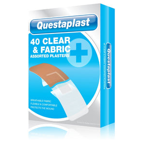 Questaplast Clear & Fabric Assorted Plasters
