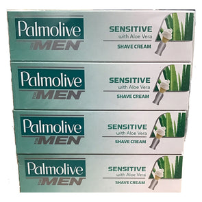 Palmolive Men Sensitive Shave Cream with Aloe Vera 63ml - Case of 12
