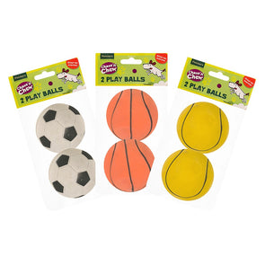 2 Pack Ruber Play Balls