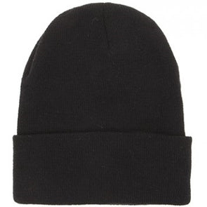 Children Black Beanie Hat