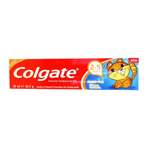 Colgate Anticavity Toothpaste For Kids 2-5 Years Bubblefruit 50ml - Case of 12