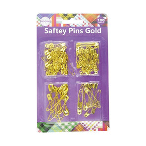 Safety Pins Gold 100 Pack