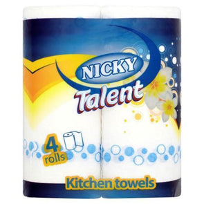 A Pack of 4 rolls Nicky Talent Kitchen Roll