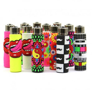 Clipper Hand Stitched Pop Cover Lighters