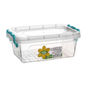 Hobby Life Rectangular Multipurpose Container Storage Box 0.6 Litre - Case of 10