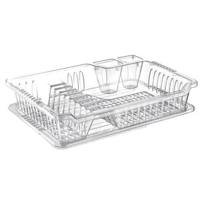 Hobby Life Violet Dish Drainer with Tray Small Clear