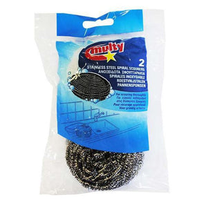 Multy Stainless Steel Scourers Twin Pack