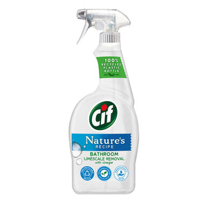 Cif Nature's Recipe Bathroom Limescale Removal with Vinegar 700ml - Case of 12