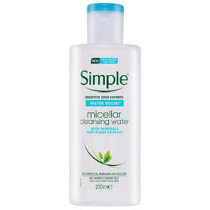 Simple Water Boost Micellar Cleansing Water Sensitive Skin 200ml - Case of 6