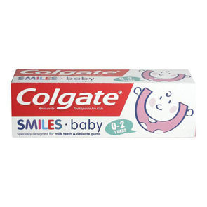 Colgate Anticavity Toothpaste For Kids Smiles Baby 0-2 Years 50ml - Case of 12