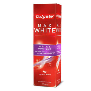 Colgate Toothpaste Max White & Protect Gentle Mint Twin Pack 75ml