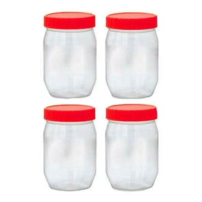 Sunpet Food Storage Containers Round 300ml 4 Pack - Case of 6